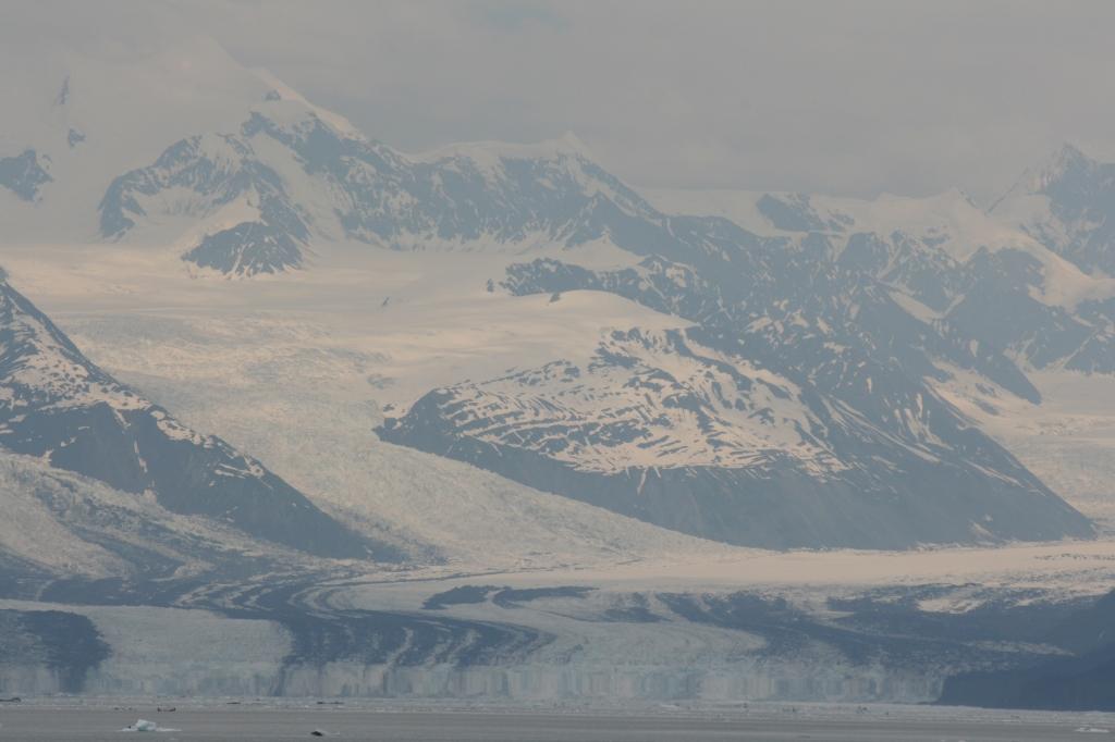 Glacier river meeting the ocean