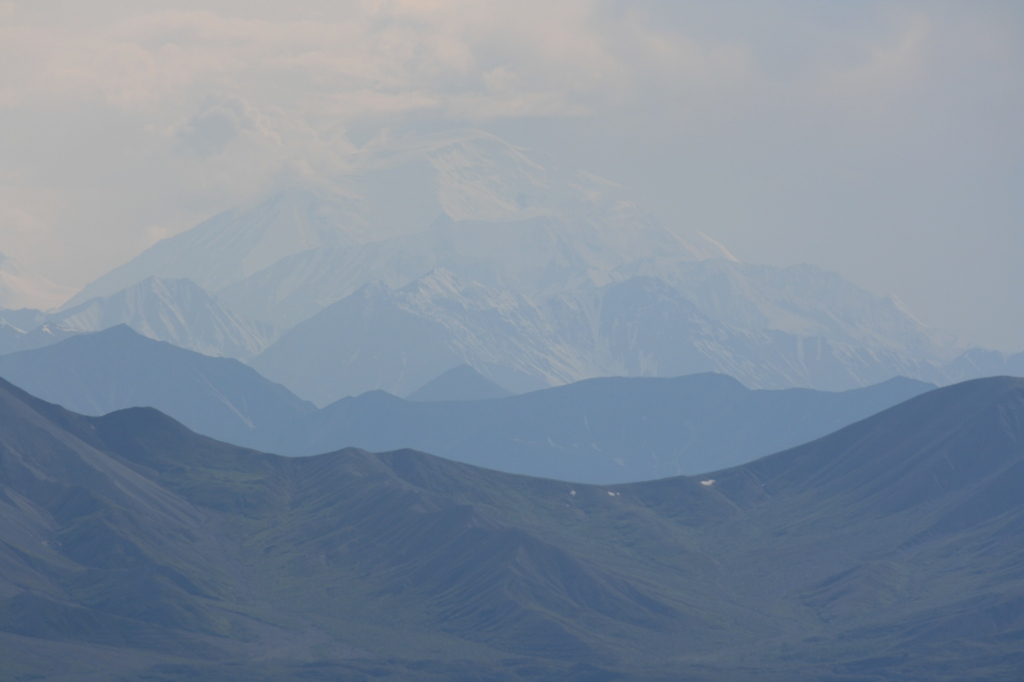 Denali and the mountain in between